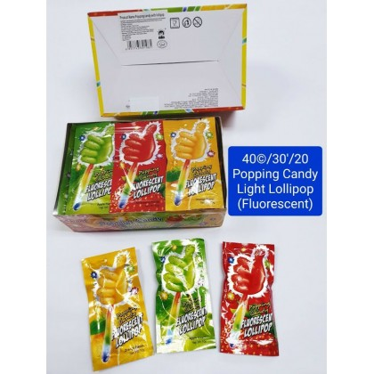 Popping Candy withLollipop (Fluorescent Stick)30pcs suitable for kids birthday party goodies bag