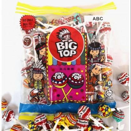 Big Top Sour/Mix Fruits/ABC/Hot Spicy Lollipop 50pcs